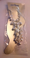 Silver tone beaded anklet (Code 3227)